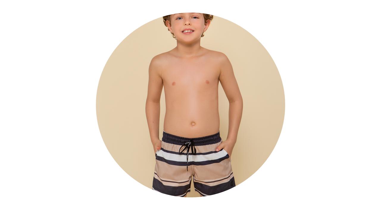 a1262 bermuda praia infantil menino nova colecao
