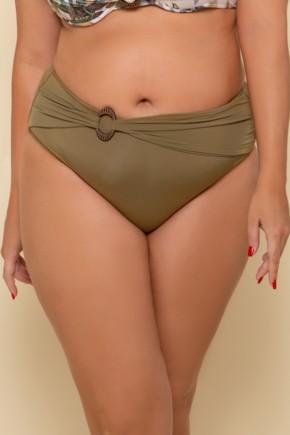 p10276 calcinha biquini hot pant liso verde argola plus size 2