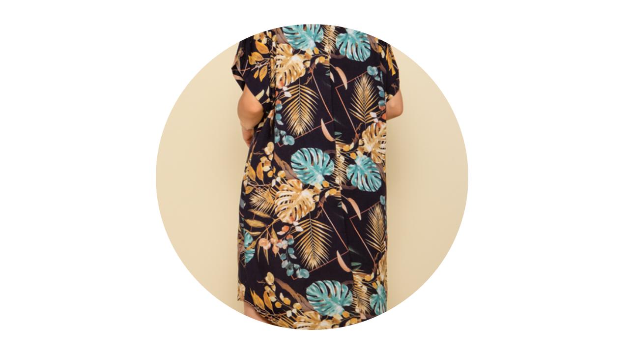p70372 vestido curto praia estampado floral nova colecao 2